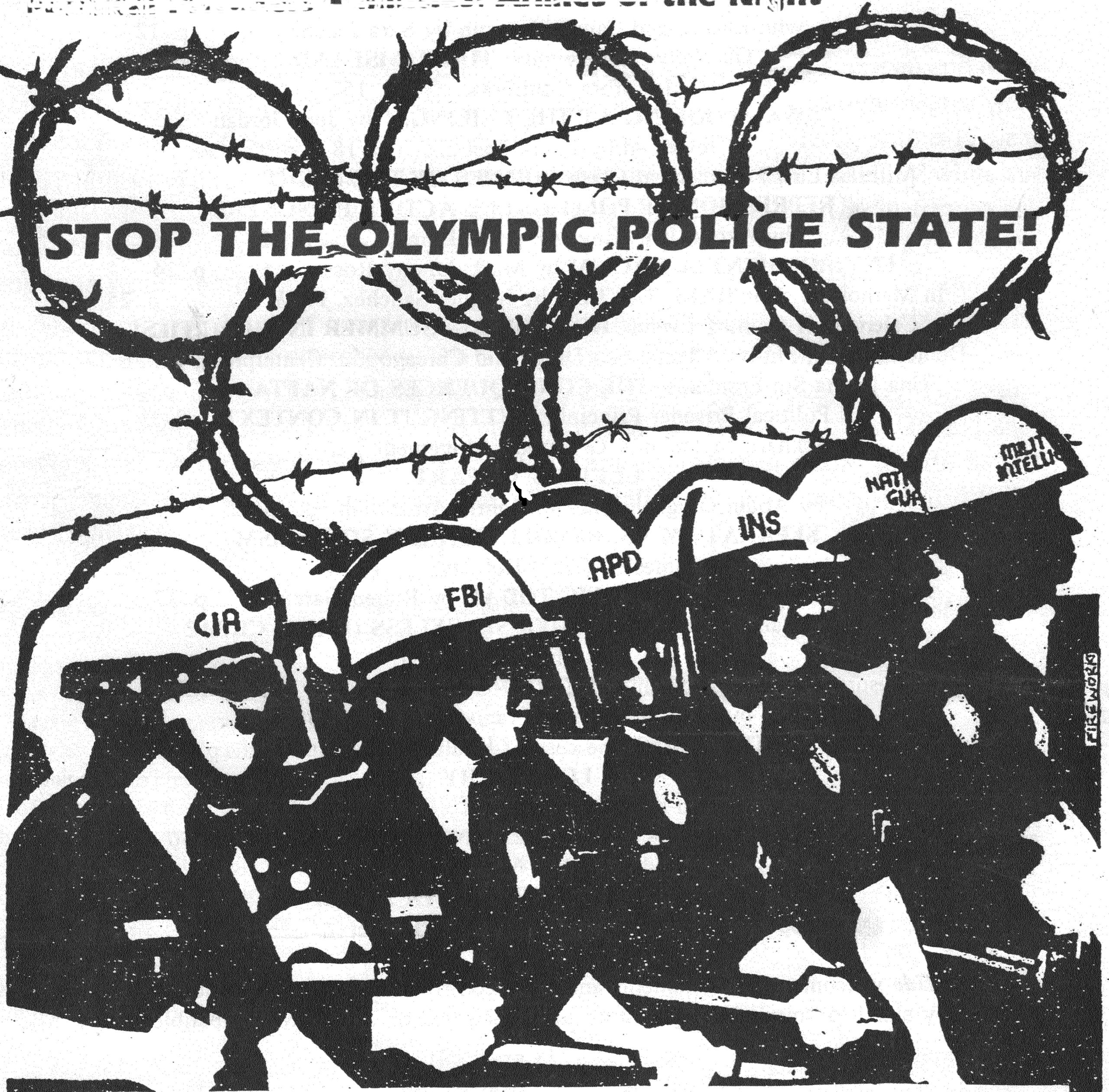 Stop the Olympics Police State (1984 L.A.)
