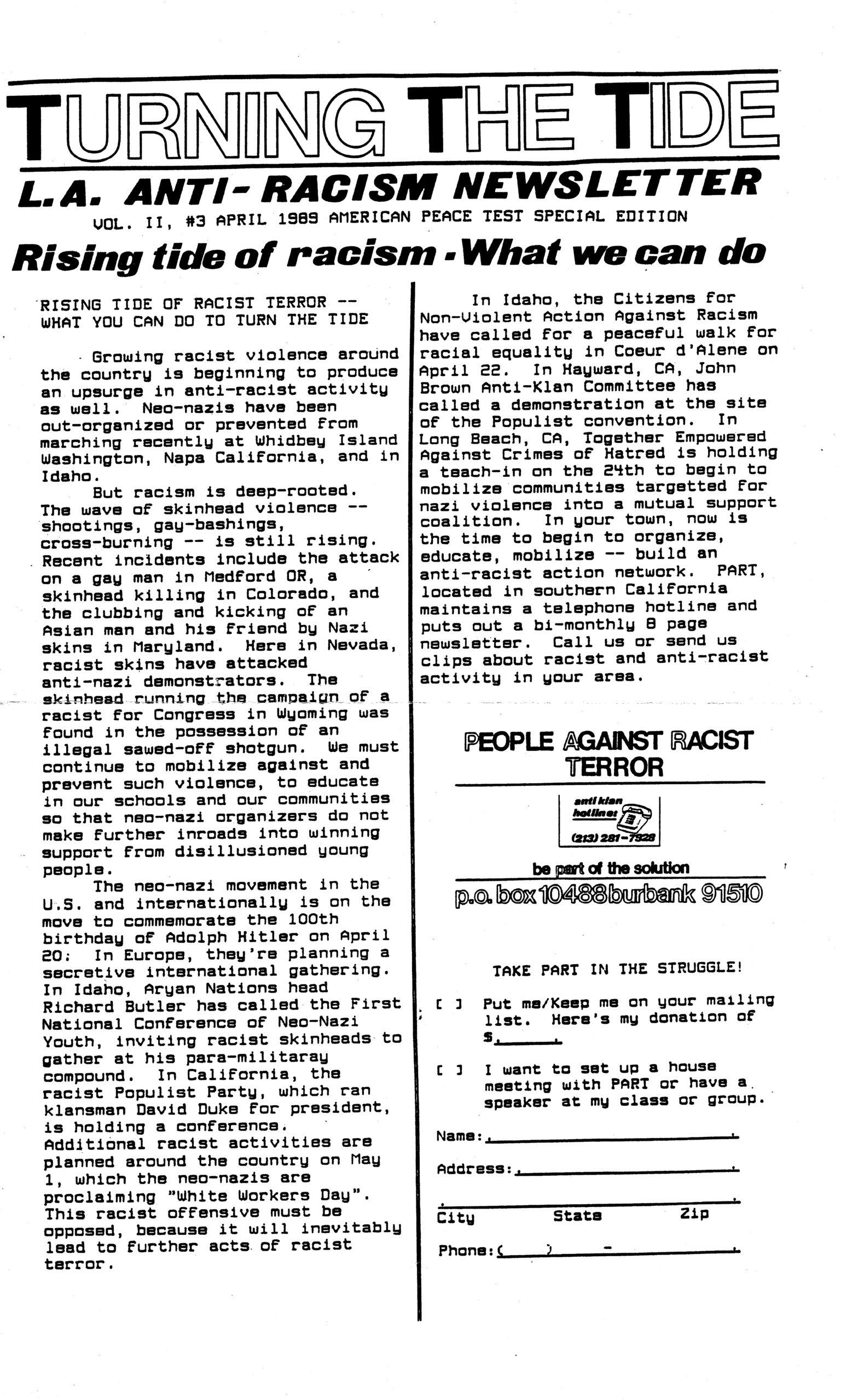 TTT Vol 2 #3 April 1989