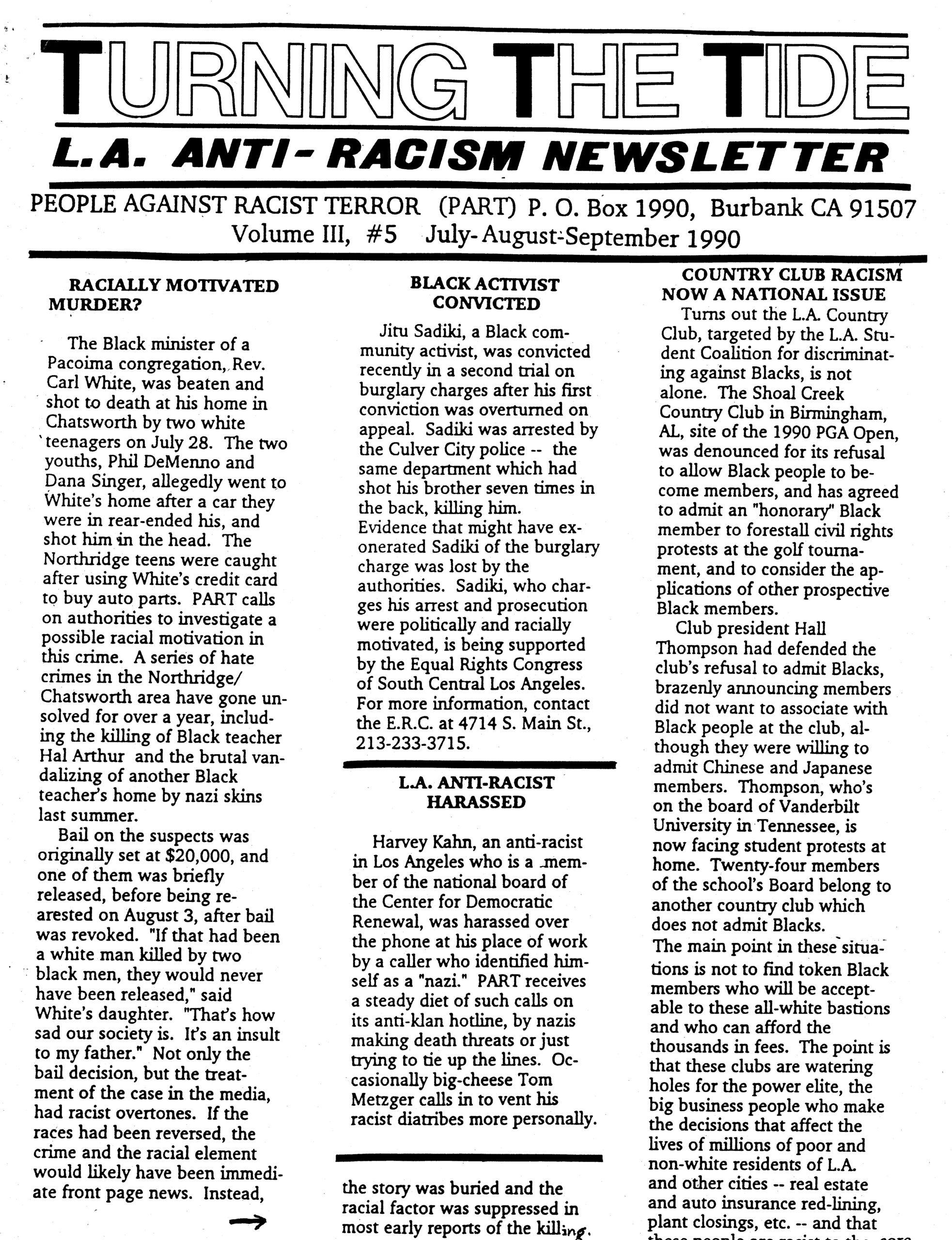 TTT Vol. 3 #5, July-August-Sept. 1990