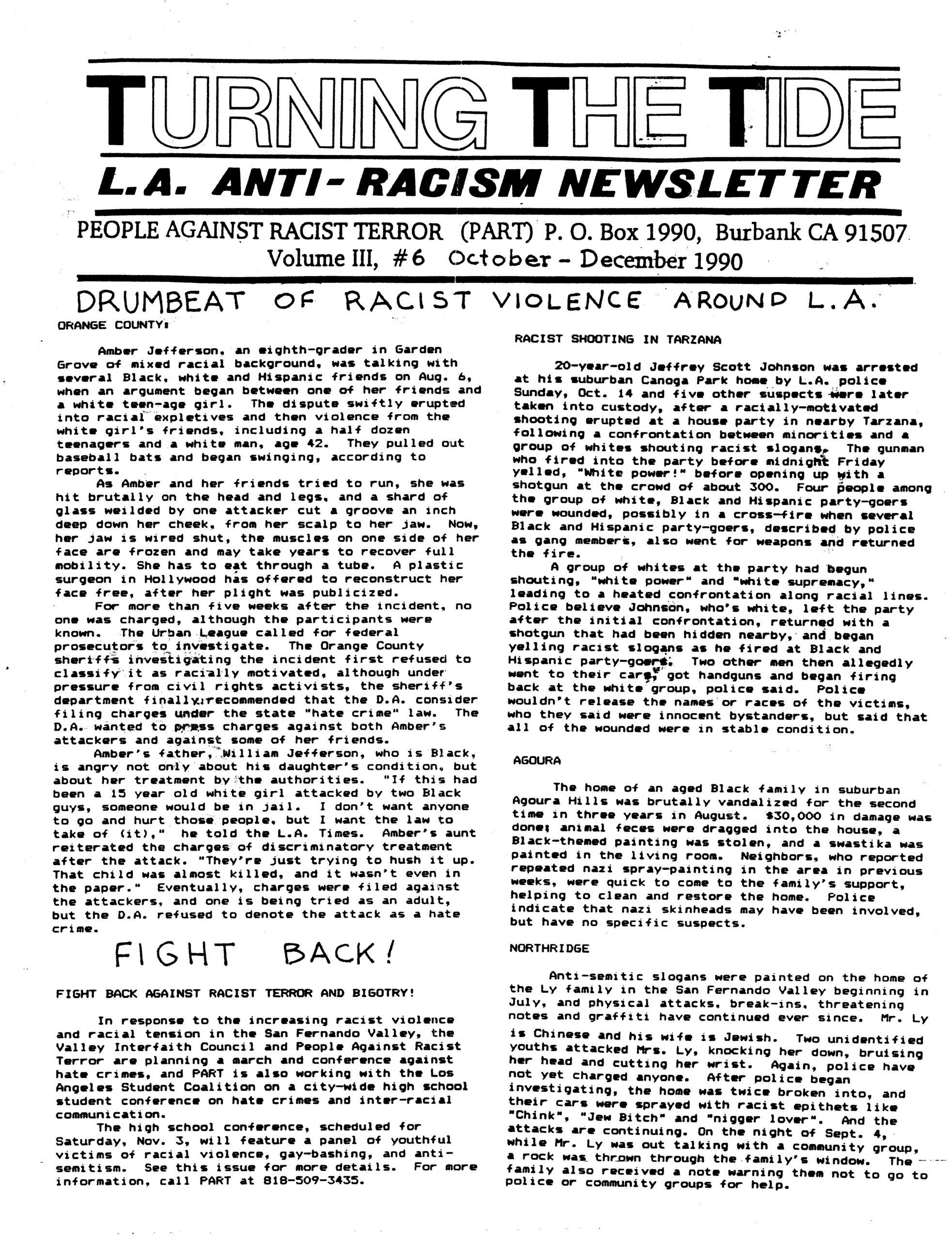 TTT Vol, 3, #6 Oct.-Dec. 1990