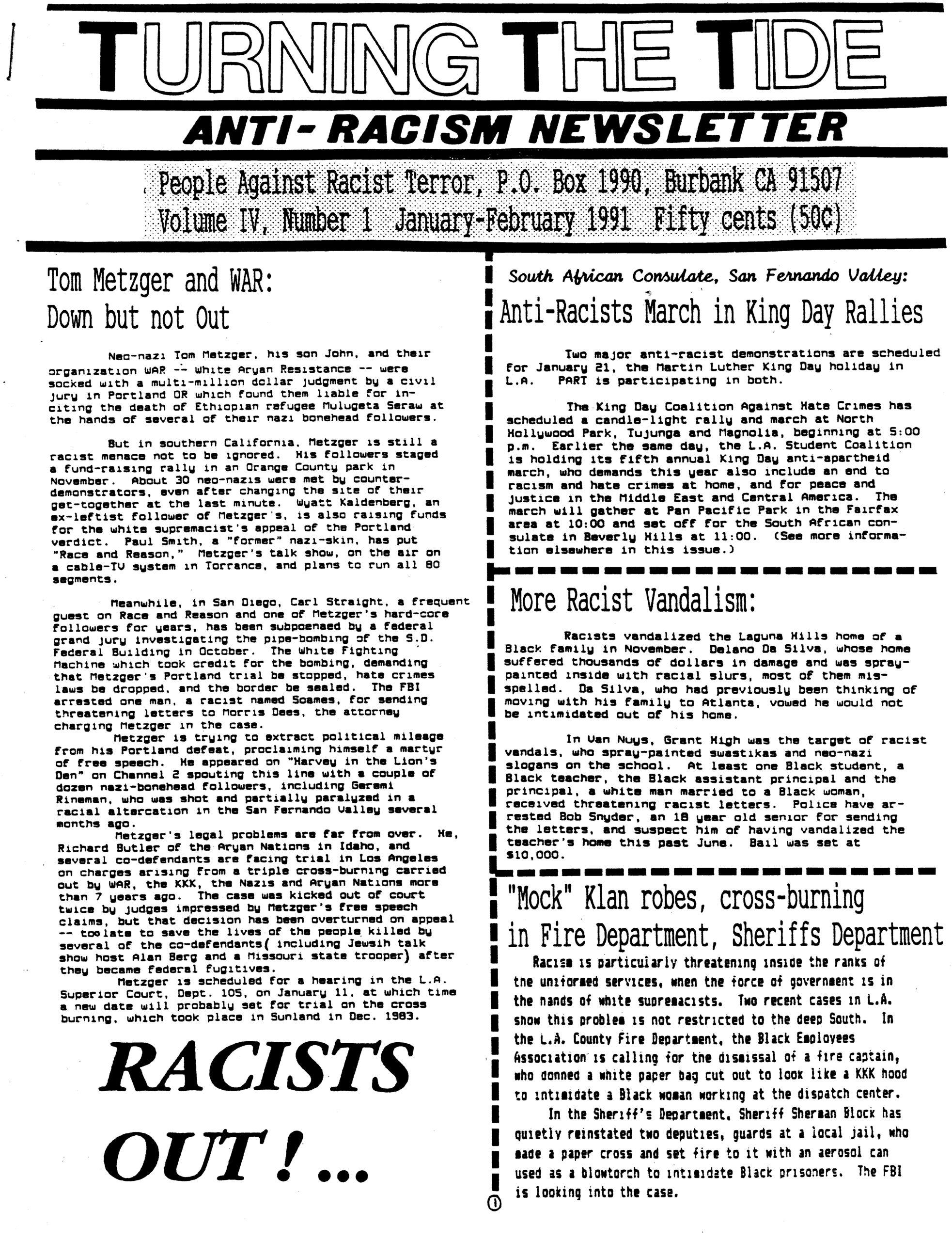 TTT Vol. 4, #1 Jan.-Feb. 1991