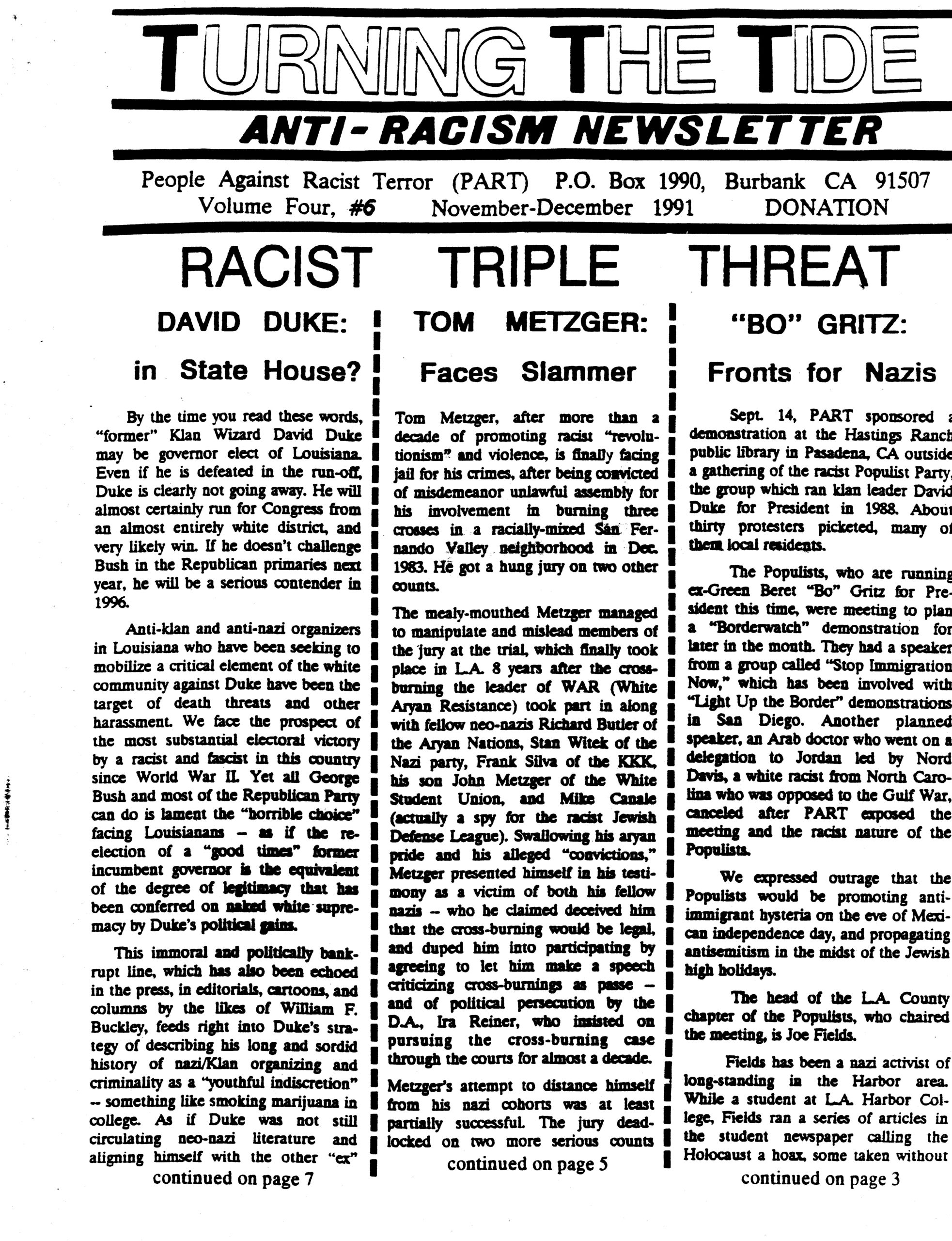TTT Vol. 4 #6, Nov.-Dec. 1991