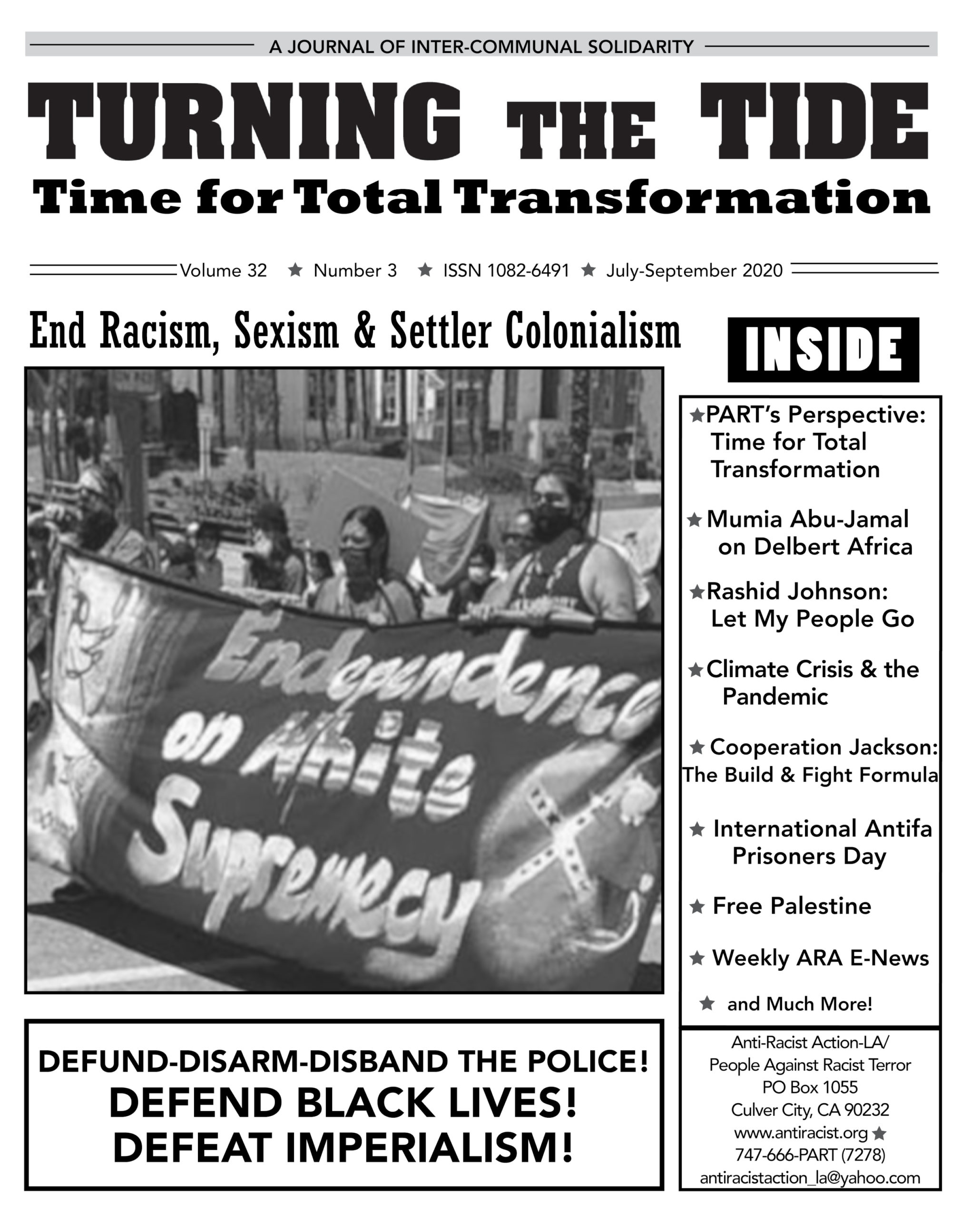 July-Sept 2020 issue of Turning The Tide v. 32 #3